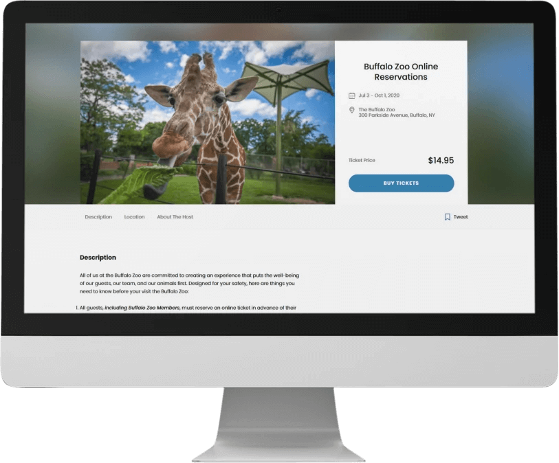 Zoo Online Ticket Reservations Software