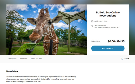 Square ticketing software for zoos