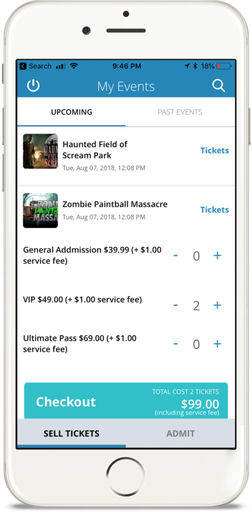 Mobile site for Haunted Field of Screams tickets