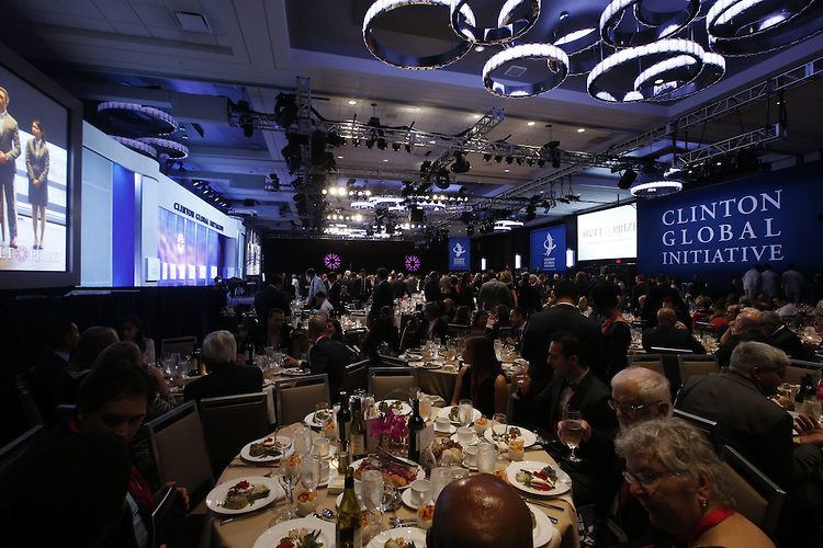 is seen at The Hult Prize Finals and Awards Dinner 2015 at the Clinton Global Initiative Annual Meeting on Saturday, September 26, 2015 in New York. (Jason DeCrow/AP Images for Hult Prize Foundation)