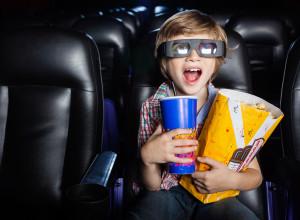 Boy enjoying watching a 3D movei